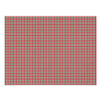 plaid03 RED WHITE PLAID CHECKERED PATTERN TEMPLATE Poster
