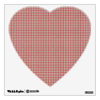plaid03 RED WHITE PLAID CHECKERED PATTERN TEMPLATE Wall Sticker
