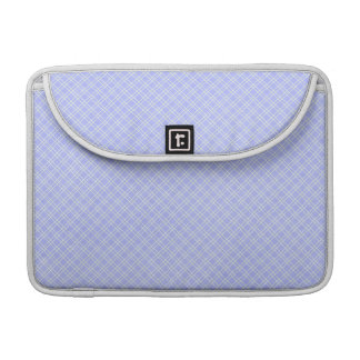 plaid32 LIGHT BLUE WHITE PLAID PATTERN TEMPLATE DI MacBook Pro Sleeves