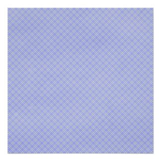 plaid32 LIGHT BLUE WHITE PLAID PATTERN TEMPLATE DI Poster