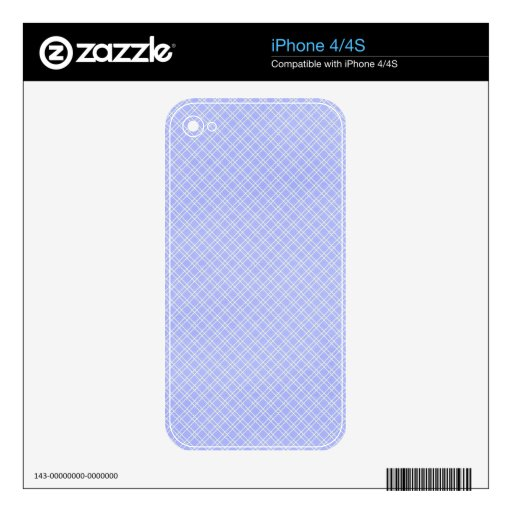 plaid32 LIGHT BLUE WHITE PLAID PATTERN TEMPLATE DI Skins For The iPhone 4