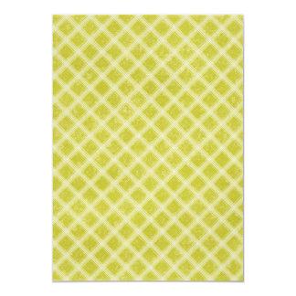 PLAID37 LIGHT YELLOWISH GREEN PLAID PATTERN TEMPLA CARD