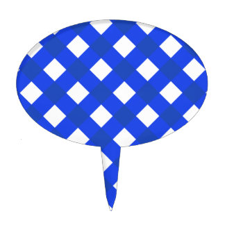Plaid 1 Blue Cake Toppers