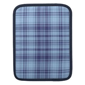 Plaid 1 - Blue iPad Sleeves