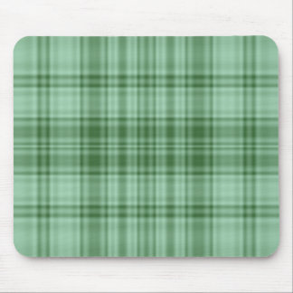 Plaid 1 - Green Mouse Pad