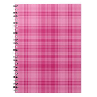 Plaid 1 - Pink Spiral Notebook