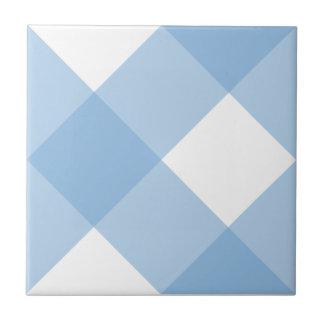 Plaid 1 Placid Blue Ceramic Tiles