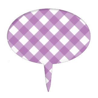 Plaid 1 Radiant Orchid Cake Toppers