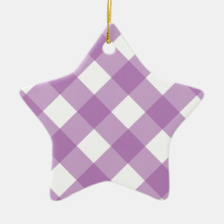 Plaid 1 Radiant Orchid Christmas Ornaments