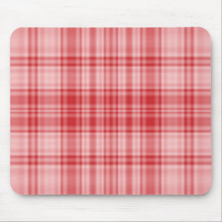 Plaid 1 - Red Mouse Pads