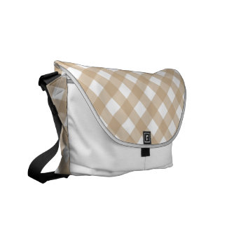 Plaid 1 Sand Courier Bag