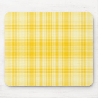 Plaid 1 - Yellow Mouse Pads