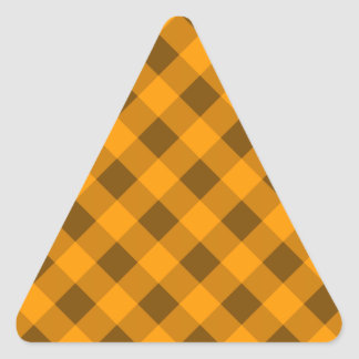 Plaid 2 Orange Triangle Sticker