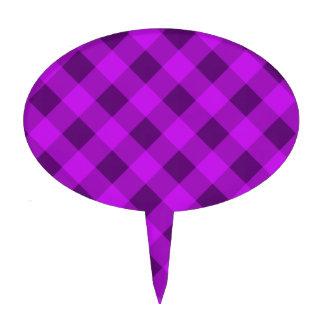 Plaid 2 Purple Cake Picks