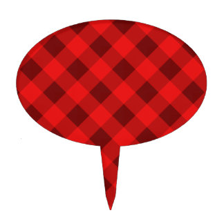 Plaid 2 Red Cake Toppers