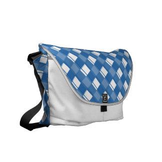 Plaid 3 Dazzling Blue Courier Bag