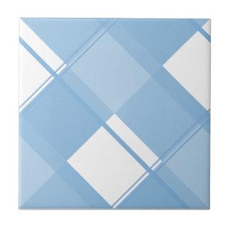Plaid 3 Placid Blue Ceramic Tiles