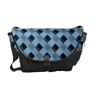 Plaid 3 Placid Blue Messenger Bag