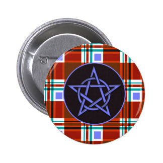 Plaid Abstract 10 Pinback Button