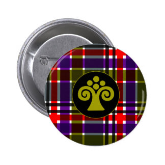 Plaid Abstract 3 Pinback Button