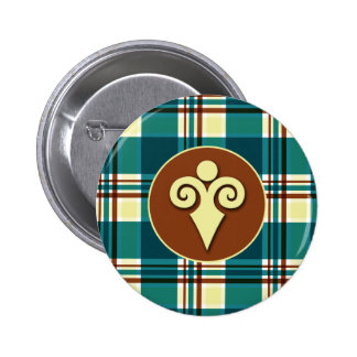Plaid Abstract 8 Button