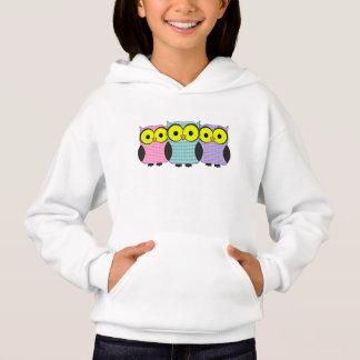 Plaid and Polka Dot Owls Hoodie