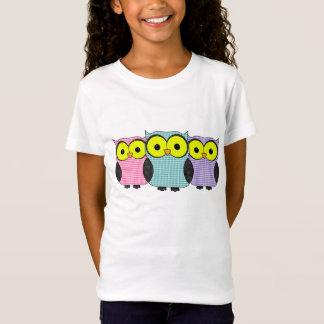 Plaid and Polka Dot Owls T-Shirt