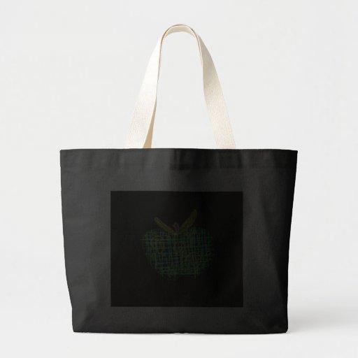 plaid apple for teachers jumbo tote bag