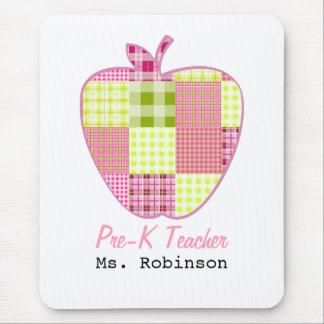 Plaid Apple Pre-K Teacher Mouse Pads