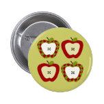Plaid Apple Quartet Pins