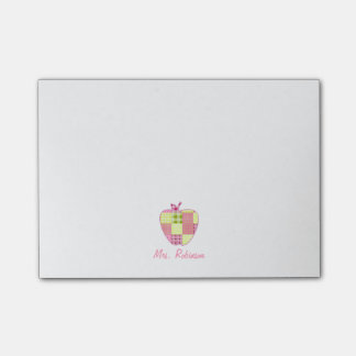 Plaid Apple Teacher Post-it® Notes