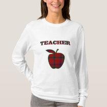 Plaid Apple Teacher's T-shirt