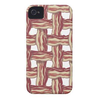 Plaid Bacon Design iPhone 4 Case-Mate Case