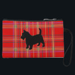 """Plaid bags and purses, with Scotty dog<br><div class=""""desc"""">Small bag for change keys makeup,  in red Scottish Plaid or Tartan,  with or without a Black Scottish Terrier Dog.</div>"""