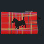 "Plaid bags and purses, with Scotty dog<br><div class=""desc"">Small bag for change keys makeup,  in red Scottish Plaid or Tartan,  with or without a Black Scottish Terrier Dog.</div>"