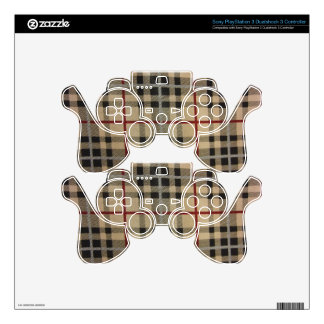 Plaid -- Black & TAn Skin For PS3 Controller