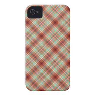 Plaid Blackberry Bold Case Rust Teal