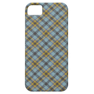 Plaid Blue and Gold iPhone SE/5/5s Case