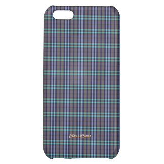 Plaid Blue Gray Green Pattern Savvy Case For iPhone 5C