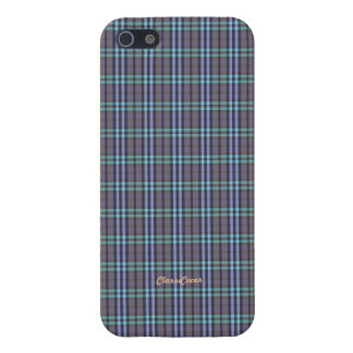 Plaid Blue Gray Green Pattern Savvy iPhone 5 Cases