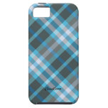 Plaid Blue Gray Pattern Case Mate iPhone 5 Covers