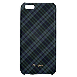 Plaid Blue Green Pattern Savvy Case For iPhone 5C