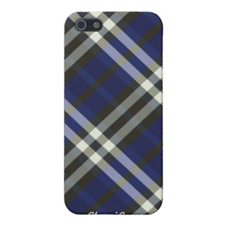 Plaid Blue Silver Stripes Pern  Cover For iPhone SE/5/5s