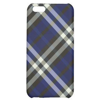 Plaid Blue Silver Stripes Pern  iPhone 5C Cover