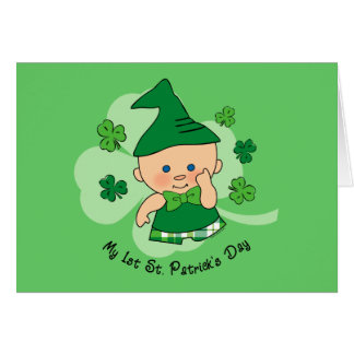 Plaid Boy 1st St. Patrick's Day Card