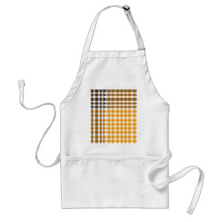 Plaid Brown and yellow Adult Apron