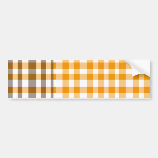 Plaid Brown and yellow Bumper Sticker