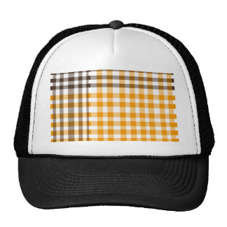 Plaid Brown and yellow Trucker Hat