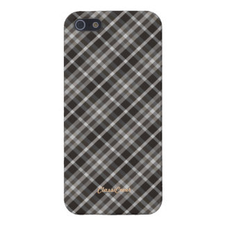 Plaid Brown White Pattern Savvy Case For iPhone SE/5/5s