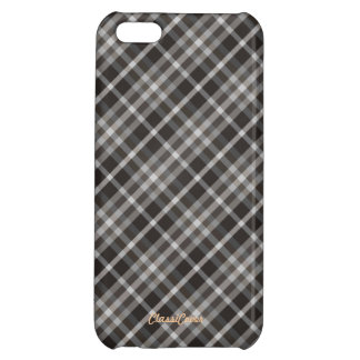 Plaid Brown White Pattern Savvy Cover For iPhone 5C